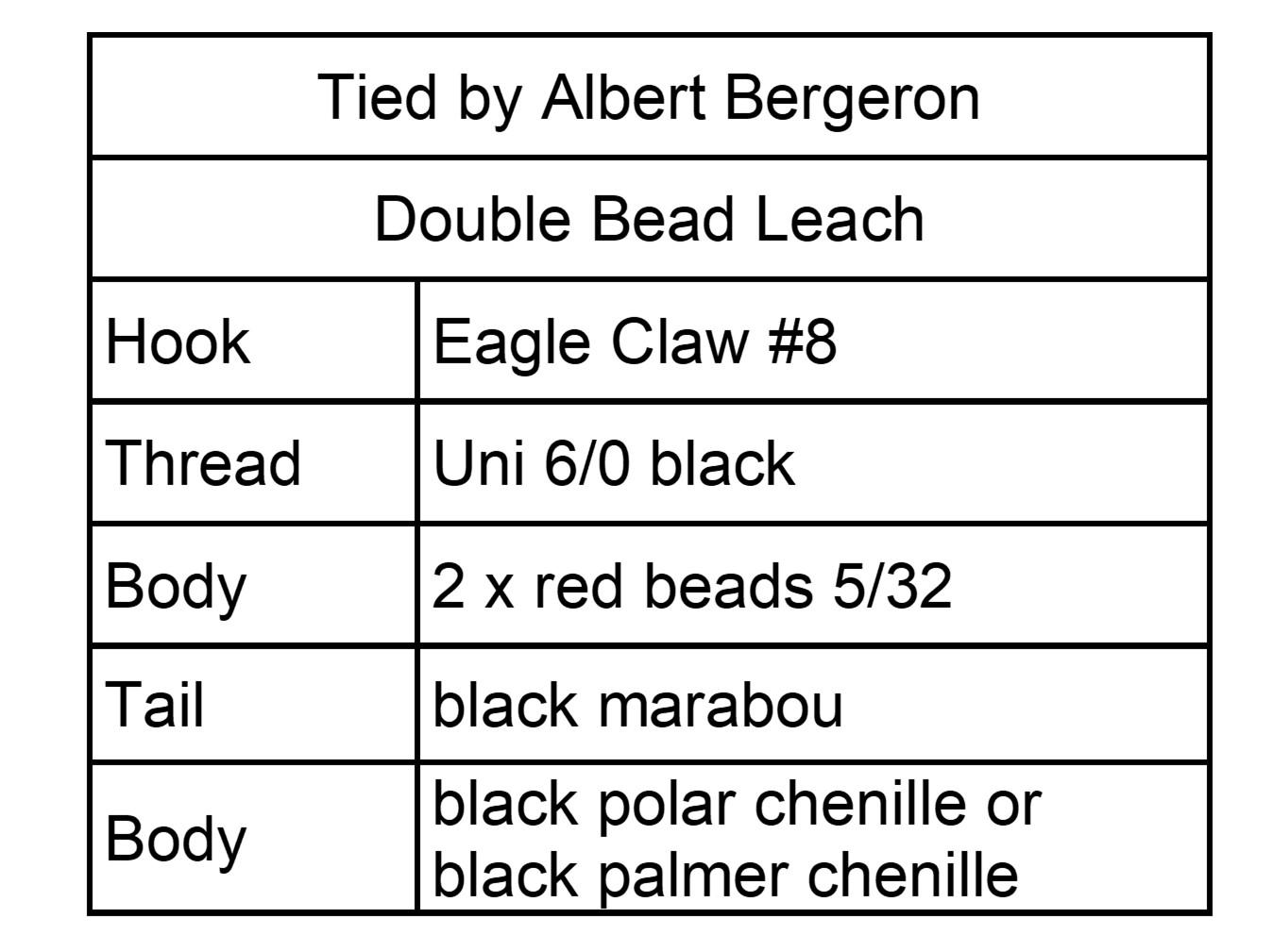 Double Bead Leach Menu